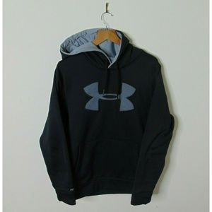 Under Armour S Pullover Hoodie Sweatshirt Black